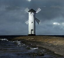 The white windmill by JBlaminsky