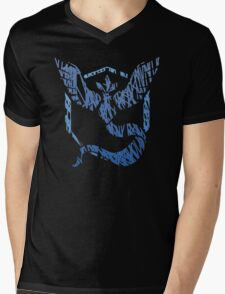 Team Mystic Scribble Mens V-Neck T-Shirt