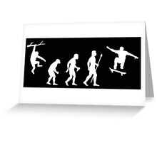 Evolution Of Man Skateboarding Greeting Card
