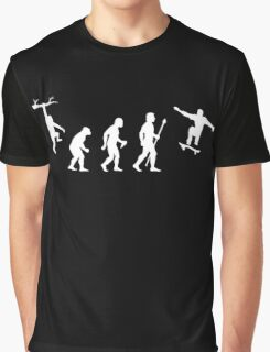 Evolution Of Man Skateboarding Graphic T-Shirt