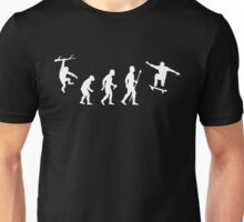 Evolution Of Man Skateboarding Unisex T-Shirt