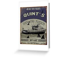 Quints shark fishing Greeting Card