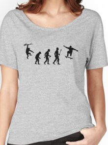 Funny Skateboarding Evolution Women's Relaxed Fit T-Shirt