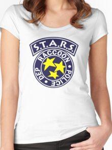 -GEEK- Raccoon Police Women's Fitted Scoop T-Shirt