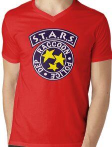 -GEEK- Raccoon Police Mens V-Neck T-Shirt
