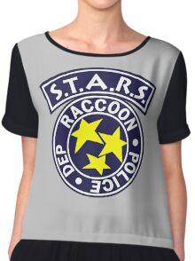 -GEEK- Raccoon Police Chiffon Top