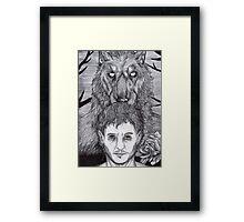 Werewolf Will (bw) Framed Print