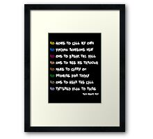 This Means War Framed Print