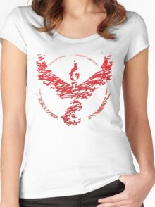 Team Valor Scribble Women's Fitted Scoop T-Shirt