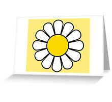 Beautiful Flower Dress Pattern Greeting Card