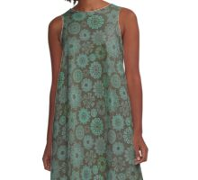 Lil' Green Boho Vintage Pattern A-Line Dress