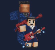8bit boy with 12th Doctor shadow Kids Tee