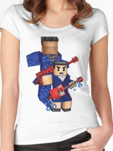 8bit boy with 12th Doctor shadow Women's Fitted Scoop T-Shirt