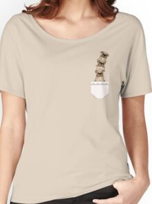 Pugs in a pocket Women's Relaxed Fit T-Shirt