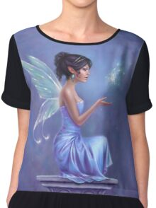 Opalite Fairy with Glowing Butterfly Chiffon Top