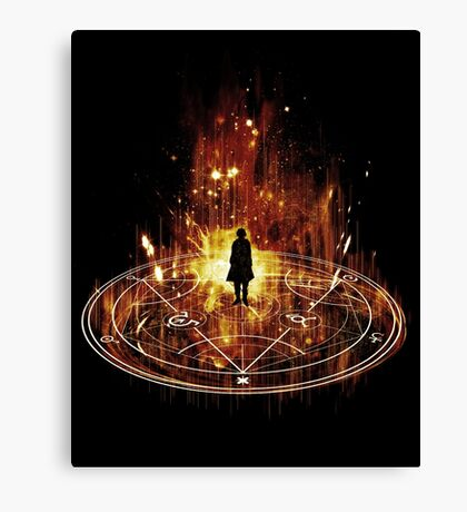 transmutation-red Canvas Print