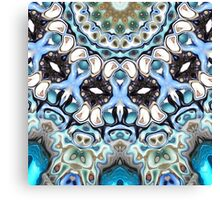 Melting Colors In Symmetry Canvas Print