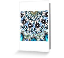 Melting Colors In Symmetry Greeting Card
