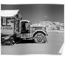 Salvation Mountain Truck Poster