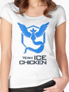 Team Ice Chicken Women's Fitted Scoop T-Shirt