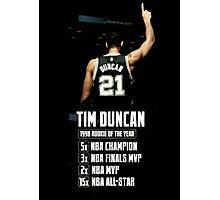 Tim Duncan NBA Champions Photographic Print