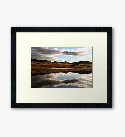Reflection of the Pentland Hills, Scotland - Prints, Cases and More Framed Print