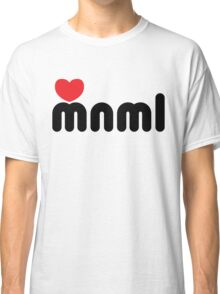 Love Minimal Music Quote Classic T-Shirt