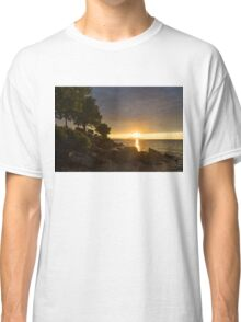 Summer Gold - Sparkling Sunrise on the Shore of Lake Ontario in Toronto Classic T-Shirt