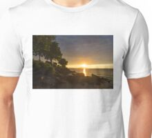 Summer Gold - Sparkling Sunrise on the Shore of Lake Ontario in Toronto Unisex T-Shirt