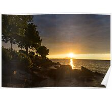 Summer Gold - Sparkling Sunrise on the Shore of Lake Ontario in Toronto Poster