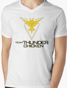 Team Thunder Chicken Mens V-Neck T-Shirt