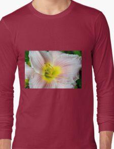 Macro on white summer flower. Long Sleeve T-Shirt