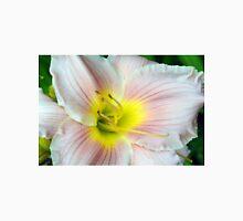 Macro on white summer flower. Unisex T-Shirt