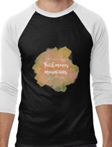 Faith Quote Men's Baseball ¾ T-Shirt