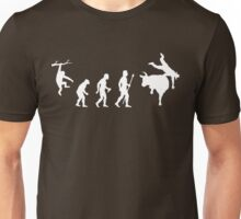 Rodeo Bull Riding Evolution Of Man Funny Shirt Unisex T-Shirt