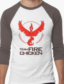 Team Fire Chicken Men's Baseball ¾ T-Shirt