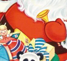 Vintage Santa with Toys Sticker
