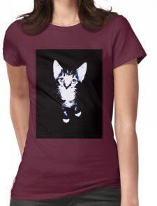 Cute Kitten Design Womens Fitted T-Shirt
