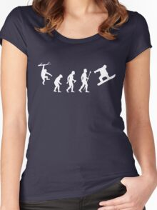 Funny Snowboarding Evolution Shirt Women's Fitted Scoop T-Shirt