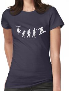Funny Snowboarding Evolution Shirt Womens Fitted T-Shirt