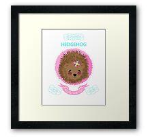 Cute Whimsy Woodland Animal Baby Hedgehog Design Framed Print