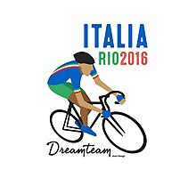 Olympics Italy cycling Photographic Print