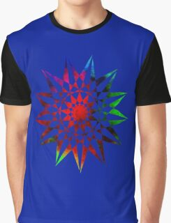 Colorful Geometric Abstract Vector Star Graphic T-Shirt