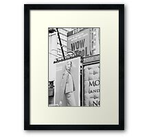New York City Times Square 2000 Advertising Billboards Framed Print