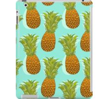 Pineapple Pop Art Pattern on Mint iPad Case/Skin