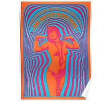Miller Blues Band Psychedelic Poster Poster