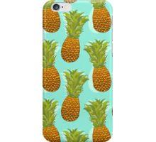 Pineapple Pop Art Pattern on Mint iPhone Case/Skin