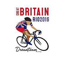 Olympics Great Britain Cycling Photographic Print