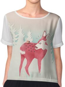 oh deer, what the bug?! Chiffon Top