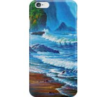 Crisp Morning light Wakens the Misty Coast iPhone Case/Skin